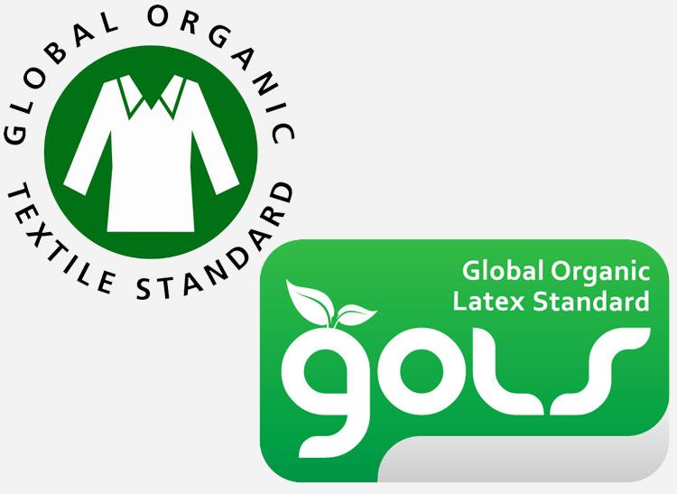 Organic mattress labels.