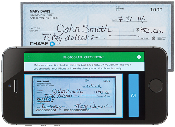 Deposit check to chase online