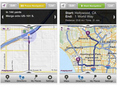 MapQuest 4 Mobile iPhone-nav-app